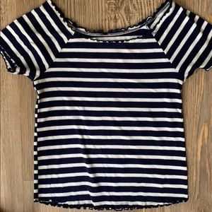 Justice striped ribbed girls shirt